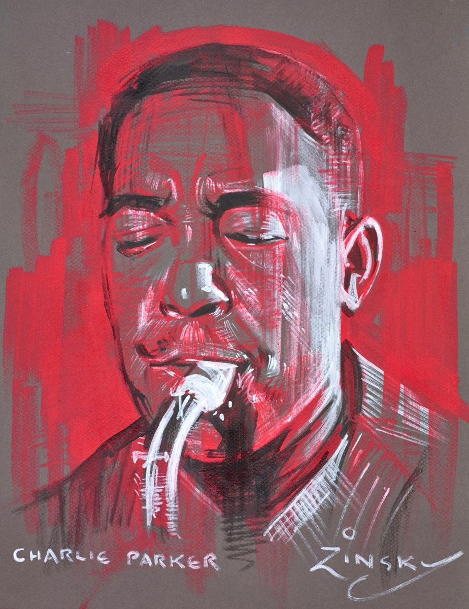 Charlie Parker by zinsky -  sized 13x16 inches. Available from Whitewall Galleries